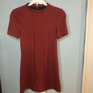 TOPSHOP Mini Orange/Black Pattern Dress